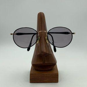 LM-26 Black/Gold Oval Sunglasses Frames
